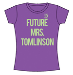 One Direction Women's Skinny Fit Tee: Future Mrs Tomlinson