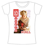 One Direction Women's Skinny Fit Tee: 1D Niall Symbol Field