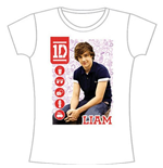 One Direction Women's Skinny Fit Tee: 1D Liam Symbol Field