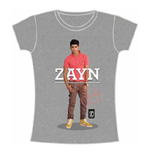One Direction Women's Skinny Fit Tee: Zayn Standing Pose
