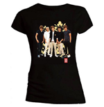 One Direction Women's Skinny Fit Tee: Flowers
