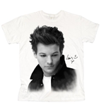 One Direction Women's Tee: Louis Solo B&W