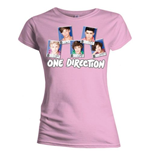 One Direction Women's Skinny Fit Tee: Polaroid