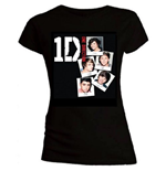 One Direction Women's Skinny Fit Tee: Photo Stack