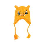 POKEMON Unisex Charizard Face & Ears Laplander Earflap Beanie, One Size, Orange