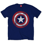 Marvel Comics Men's Tee: Capt. America Distressed