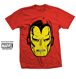 Marvel Comics Men's Tee: Iron Man Big Head