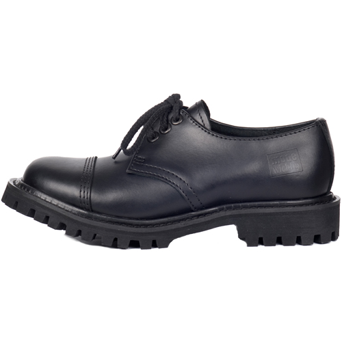 Mode Wichtig 3-Eye Steel Shoes Leather