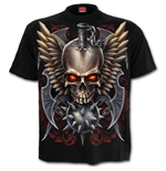 Maced Skull - T-Shirt Black