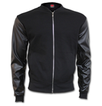 Urban Fashion - Bomber Jacket with PU Leather Sleeves