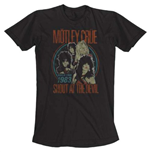 Motley Crue Men's Tee: Vintage World Tour
