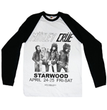 Motley Crue Men's Raglan/Baseball Tee: Starwood Flyer 1981