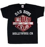 Motley Crue Youth's Tee: Bad Boys Shield