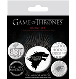 Game Of Thrones Pin Badges 5-Pack Winter Is Coming