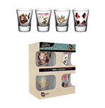 Harley Quinn Set 4 shots glasses