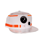 STAR WARS VII The Force Awakens BB-8 Astromech Droid Snapback Baseball Cap, White/Metallic