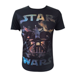 STAR WARS Adult Male Darth Vader All-Over T-Shirt, Extra Large, Black