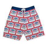 BUDWEISER Men's Repeating Label Board Shorts