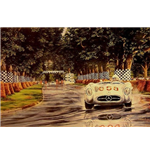 "Motorsport Print ""Stirling Moss Silver Reflections"" Print"