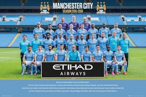 Manchester City Team Photo 15/16 Maxi Poster