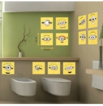 Minions Wall Sticker Tiles
