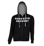 BROOKLYN BREWERY Men's Black Zip Hoodie
