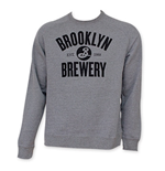 BROOKLYN BREWERY Men's Grey Crew Neck Sweatshirt