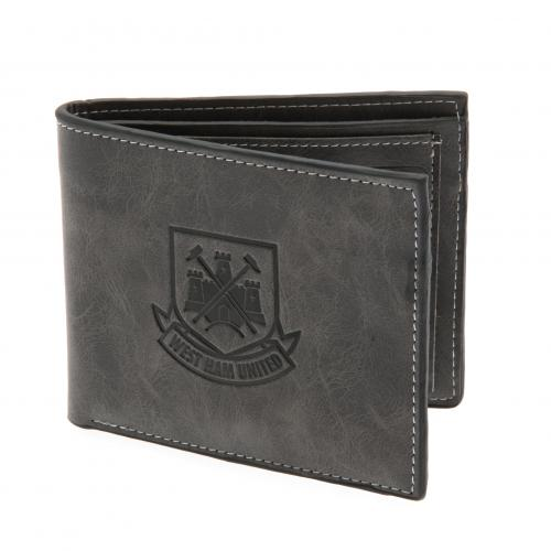 West Ham United F.C. Faux Suede Wallet 818