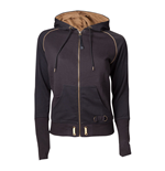 ASSASSIN'S CREED Syndicate Adult Female Bronze Brotherhood Crest Full Length Zipper Hoodie, Small, Black/Bronze