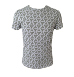 ASSASSIN'S CREED Adult Male Abstergo Logo All-Over Print T-Shirt, Small, Grey