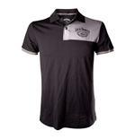 JACK DANIEL'S Adult Male Old No.7 Brand Polo Shirt, Small, Black/Grey