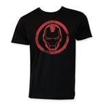 IRON MAN Men's Black Circle Logo Tee Shirt