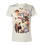 CAPCOM Street Fighter IV Adult Male Character Roster T-Shirt, Extra Large, White