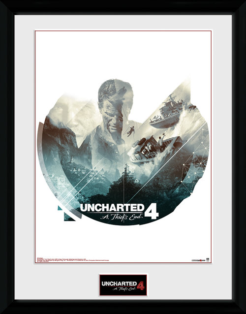 Uncharted 4 Boats Framed Collector Print