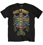Guns N' Roses Men's Tee: Skull Cross 80s