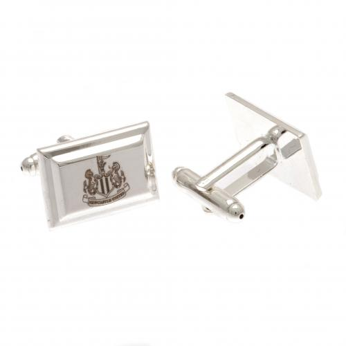 Newcastle United F.C. Silver Plated Cufflinks