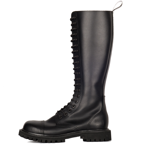 Mode Wichtig 20-Eye Steel Boots Zip Leather