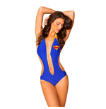 SUPERMAN Knot Plunge Monokini Swimsuit