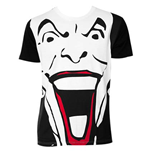 BATMAN Black And White Giant Joker Face Tee Shirt