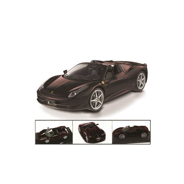 1:18 Ferrari 458 Spider Black Diecast Model
