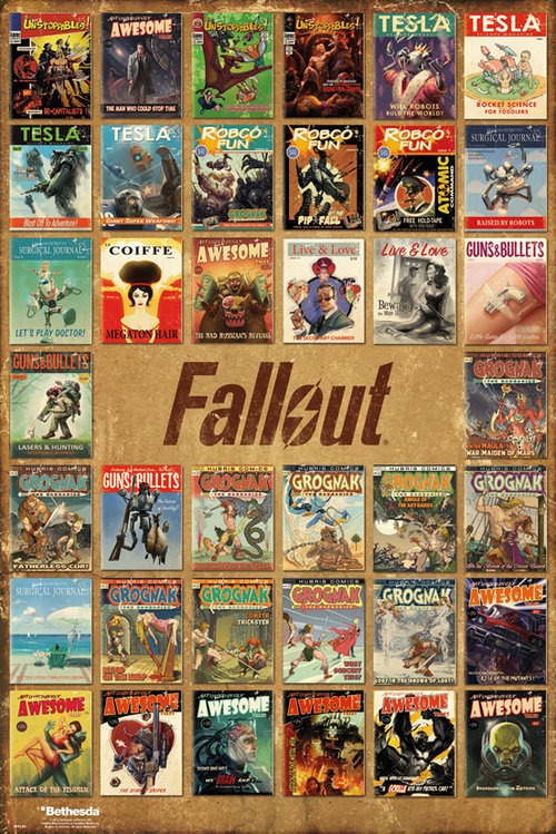 Fallout 4 Magazine Compilation Maxi Poster