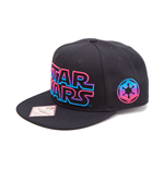 STAR WARS Adult Male Embroidered Neon Galactic Empire Logo Snapback Baseball Cap, One Size, Black