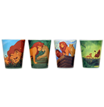 DISNEY Lion King 4 PC Shot Glass Set