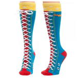 WONDER WOMAN Faux Lace Up Socks