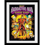 The Simpsons Framed Print - Radioactive Man 30x40cm