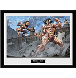 Attack on Titan Print - Titan Fight - 30x40cm