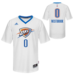 Mens Oklahoma City Thunder Russell Westbrook adidas White Swingman Short Sleeves Jersey