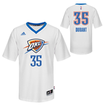 Mens Oklahoma City Thunder Kevin Durant adidas White Swingman Short Sleeves Jersey