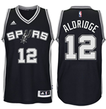 Men's San Antonio Spurs LaMarcus Aldridge adidas Black New Swingman Road Jersey