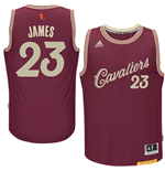 Men's Cleveland Cavaliers LeBron James adidas Burgundy 2016 Christmas Day Swingman Jersey